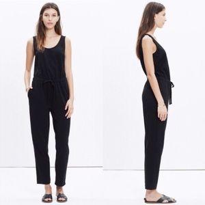 Madewell black sleeveless jumpsuit